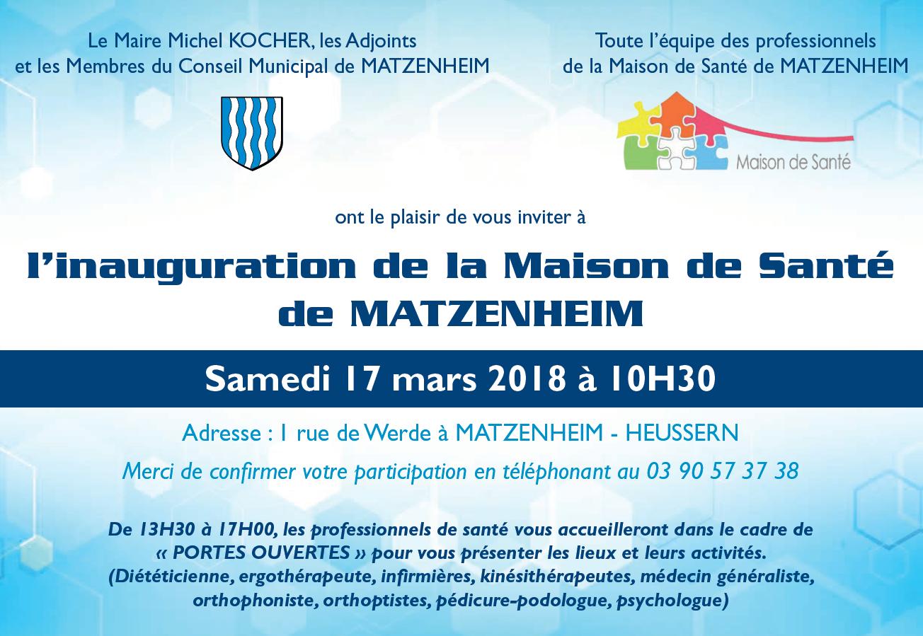 Invitation inauguration maison sante matzenheim